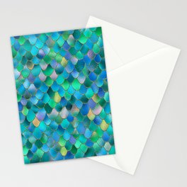 Summer Ocean Metal Mermaid Scales Stationery Cards
