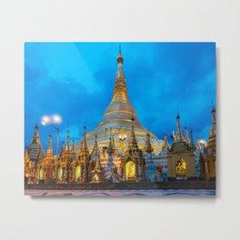 Shwedagon Pagoda Fine Art Print  • Travel Photography • Wall Art Metal Print