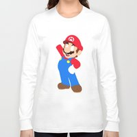 super mario Long Sleeve T-shirts featuring Super Mario by Valiant