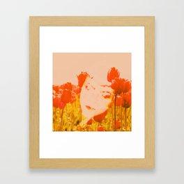 Tulip head Framed Art Print