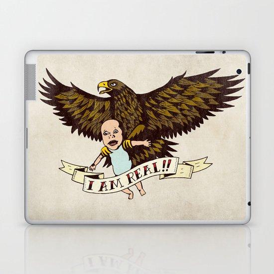 "Golden Eagle: ""I AM REAL!"" Laptop & iPad Skin"