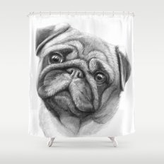 The Pug G123 Shower Curtain