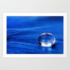 Blue Star Drop Art Print