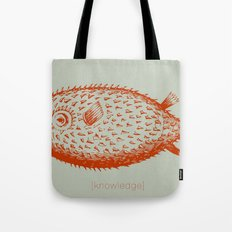 knowledge puffs up Tote Bag
