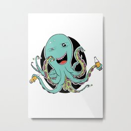 Octo Party Metal Print