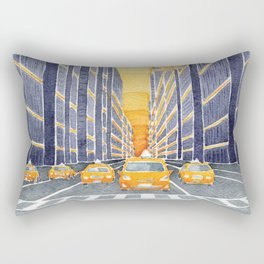 NYC, yellow cabs Rectangular Pillow