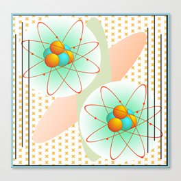 Mid-Century Modern Art Atomic 1.0 Canvas Print