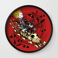 Calvydia and Beetlehobbes Wall Clock
