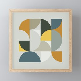 Mid Century Geometric 13 Framed Mini Art Print