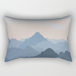 Pastel Sunset over Blue Mountains Rectangular Pillow