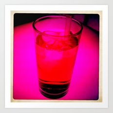 Pink Drink Art Print