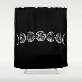 The Lunar Cycle Shower Curtain