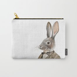 Vintage Gentleman Rabbit Carry-All Pouch