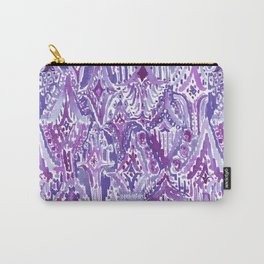 DROPS OF WONDER Ultra Violet Ikat Tribal Carry-All Pouch
