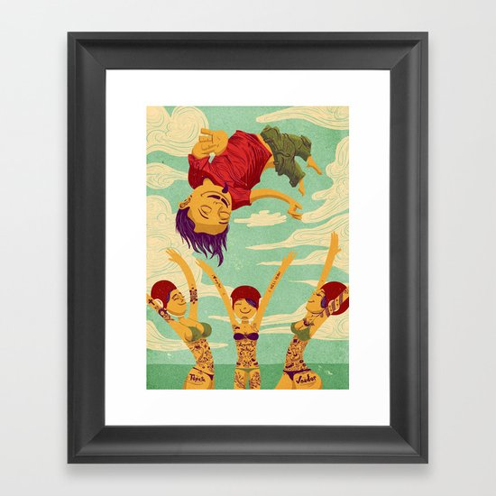 Tapete Voador Framed Art Print