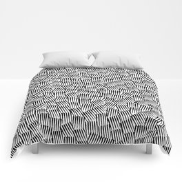 Crosshatched yourself Comforters