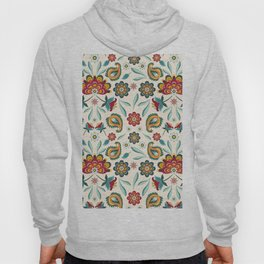 Boho Batik Floral Pattern Hoody