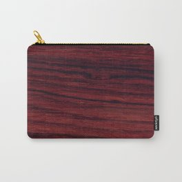 Deep red wood veneer design Carry-All Pouch