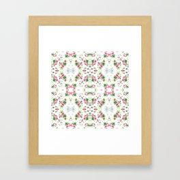 Pink Floral Print  Framed Art Print