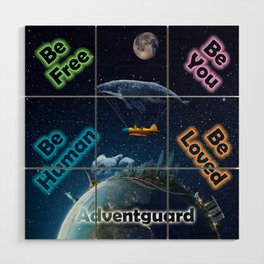 Advent Guard Earth Tranquil Whale Aspect Wood Wall Art