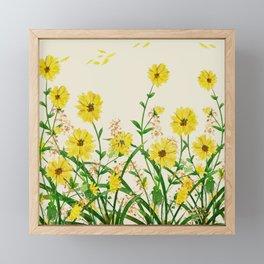Yellow Wildflowers Framed Mini Art Print