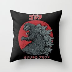 Gojira Kaiju Alpha Throw Pillow