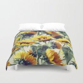 Sunflowers Forever Duvet Cover
