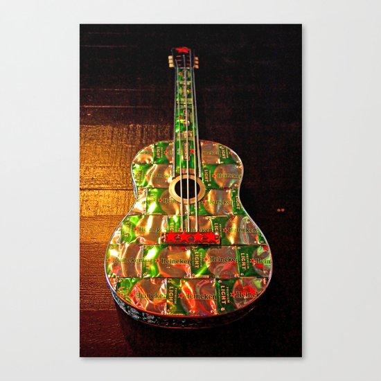 Heineken guitar Canvas Print