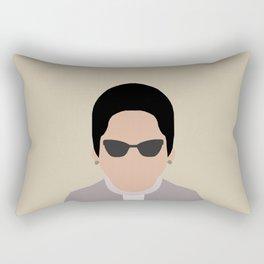 Umm Kulthum ام كلثوم  Rectangular Pillow