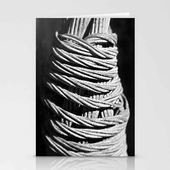 Metal cable Stationery Cards