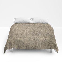 Abstract Fur Texture -Beige Comforters