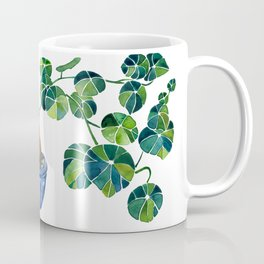 Watercolor Bonsai Plant / Stephania Erecta Potato Plant Coffee Mug