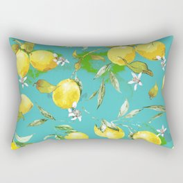Watercolor lemons 3 Rectangular Pillow