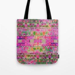 Pink Aztec Grunge Tote Bag