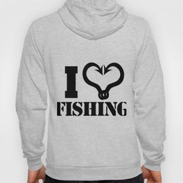 I Love Fishing - Fish Hooks Hoody