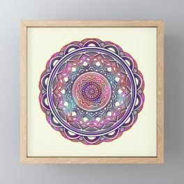 Galaxy Mandala Framed Mini Art Print
