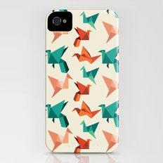 teal paper cranes iPhone (4, 4s) Slim Case