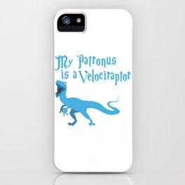 My Patronus is a Velociraptor iPhone Case