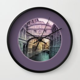 Ponte dei Sospiri | Bridge of Sighs - Venice (colored version) Wall Clock