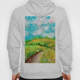 Landscape With Road And Clouds Hoody