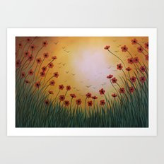 Flowers In the Sun Art Print