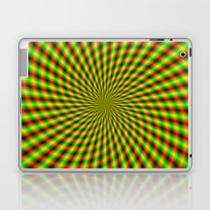 Spiral Rays in Yellow Green and Red Laptop & iPad Skin