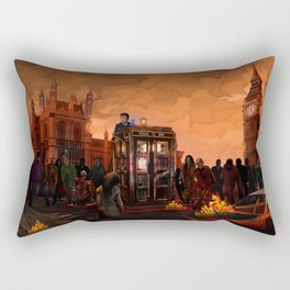 10th Doctor trapped in the zombie land Rectangular Pillow