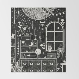Moon Altar Throw Blanket
