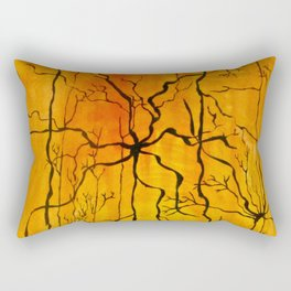 Neural Activity (An Ode to Cajal) Rectangular Pillow