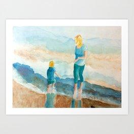 Joy On The Beach Art Print
