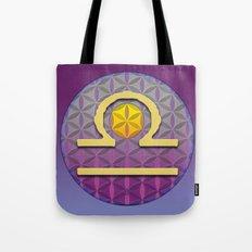 Flower of Life LIBRA Astrology Design Tote Bag