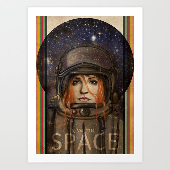 Give me Space (Girl) Art Print