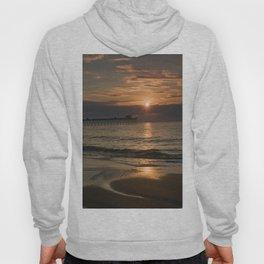 Sunrise at Emerald Isle Pier Hoody