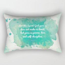 2 Timothy 1:7, Inspiring Bible Verse Rectangular Pillow